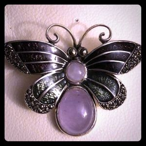 Vintage - Sterling Silver Butterfly Pin